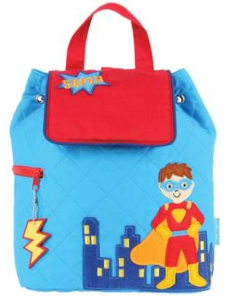 Quilted Backpack Superhero Embroidered