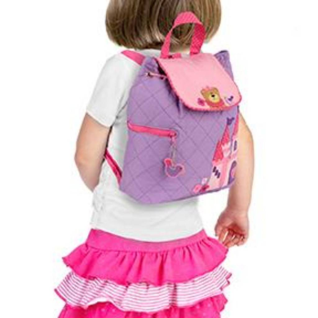 Quilted Backpack Princess Bear Embroidered