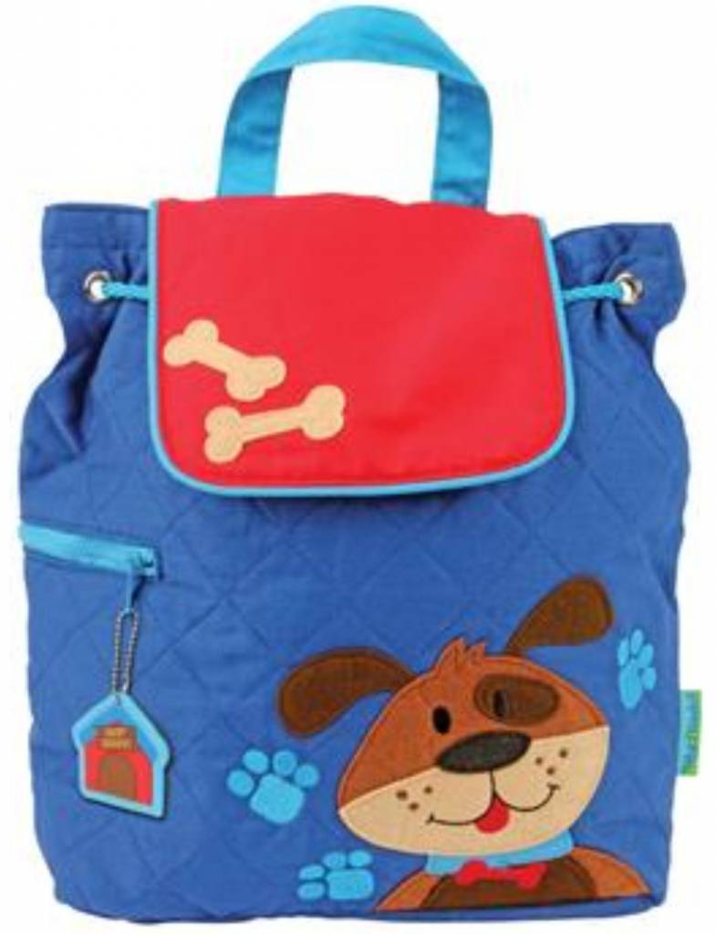 Quilted Backpack Dog Embroidered