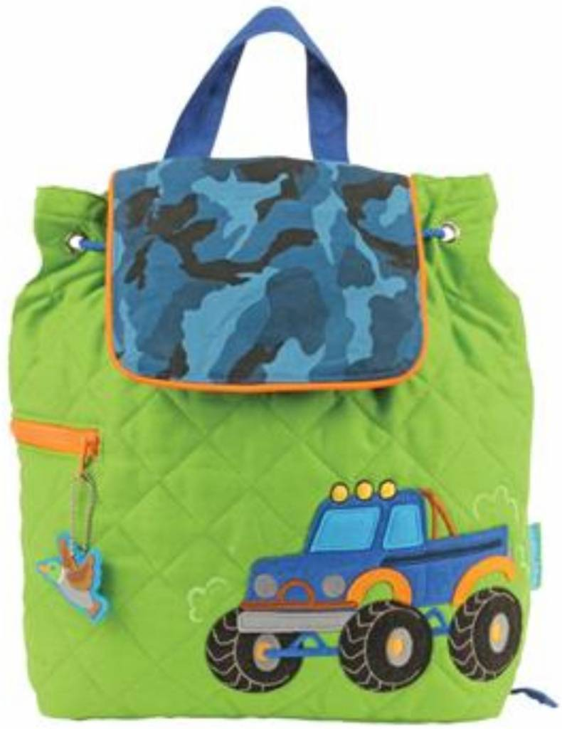 Quilted Backpack Truck Embroidered