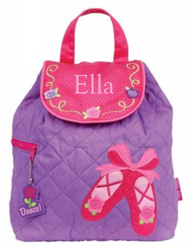 Quilted Backpack Ballet Embroidered