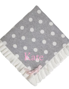 Polka Dot Ruffle Blanket