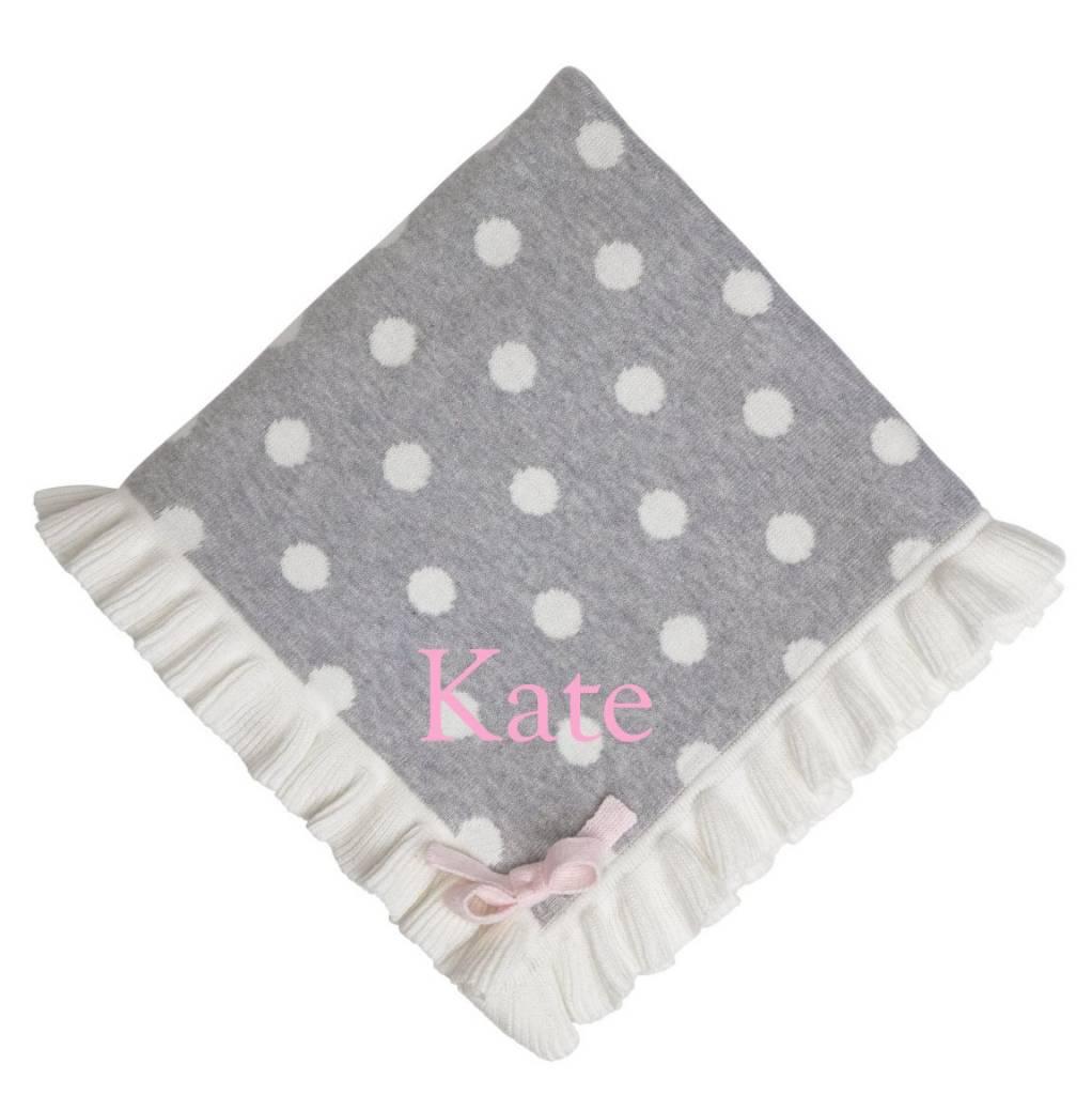 Polka Dot Ruffle Blanket - NP