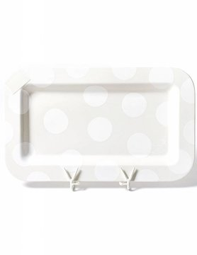 White Dot Entertaining Mini Rectangle Platter