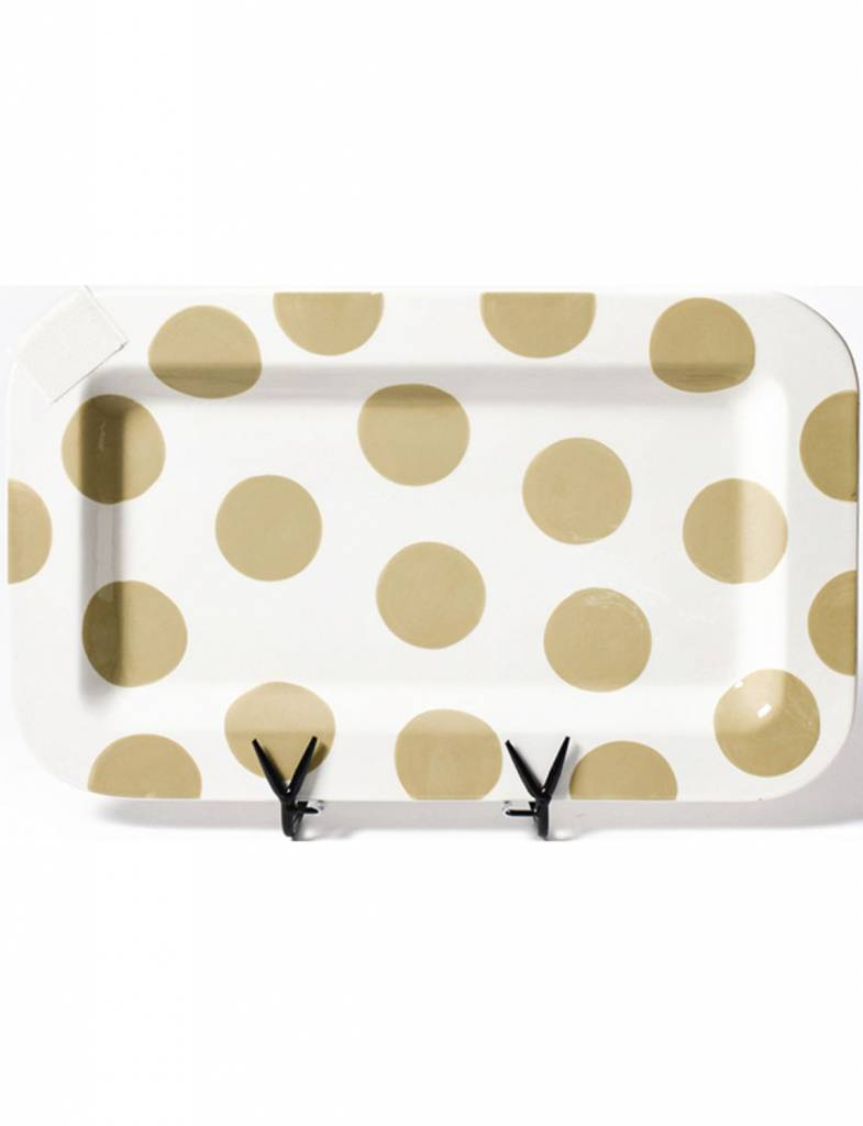 Neutral Dot Happy Everything Rectangle Mini Platter