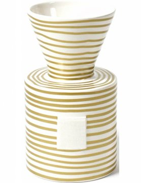 Gold Stripe Happy Everything Mini Vase