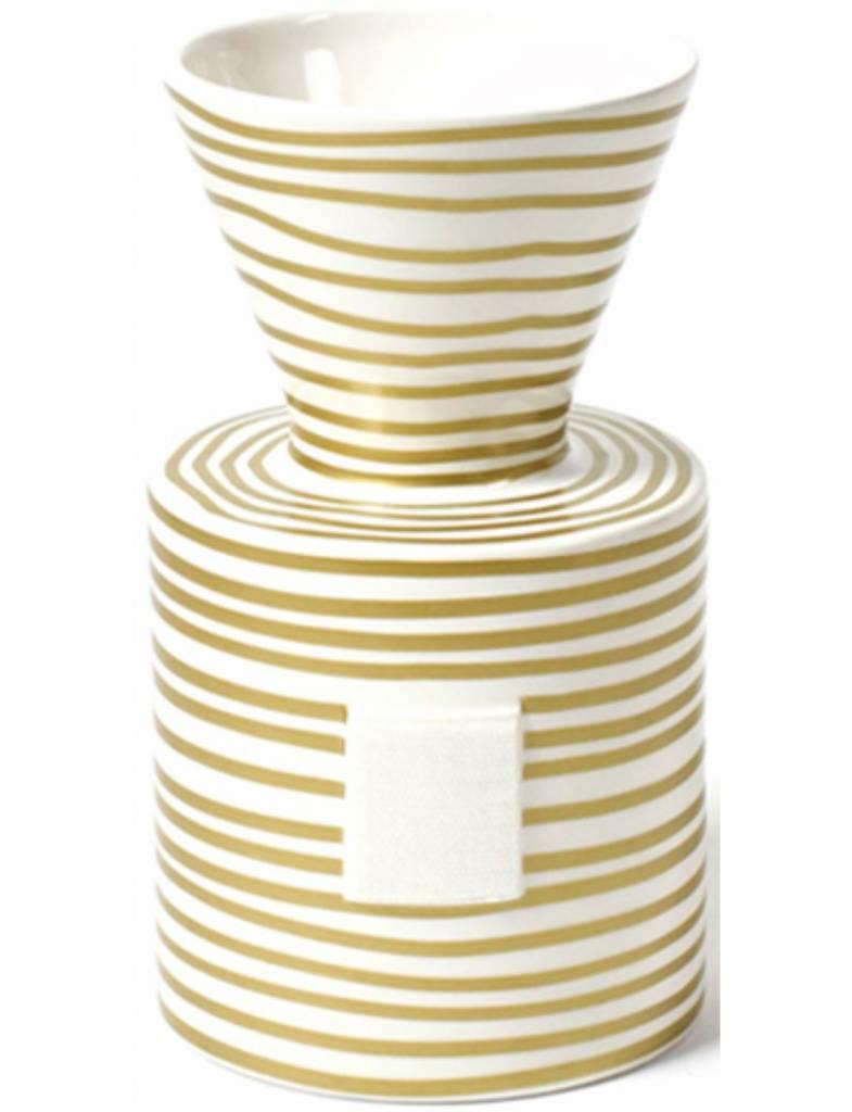 Gold Stripe Happy Everything Mini Vase