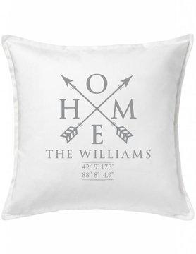 White Custom Pillow-28A-Home Sweet Family