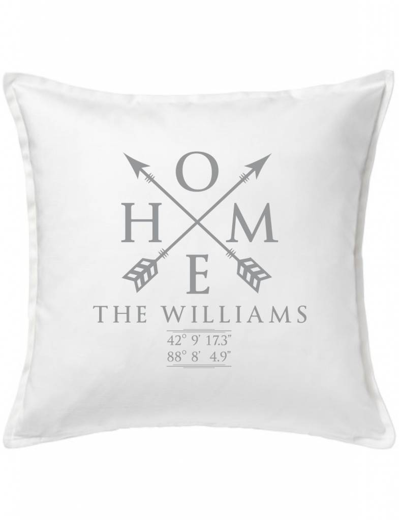 White Custom Pillow-28A-Home Sweet Family