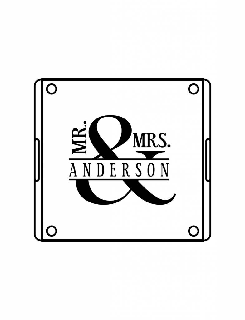 Acrylic Square Tray-ACR55-Mr. & Mrs. Bold