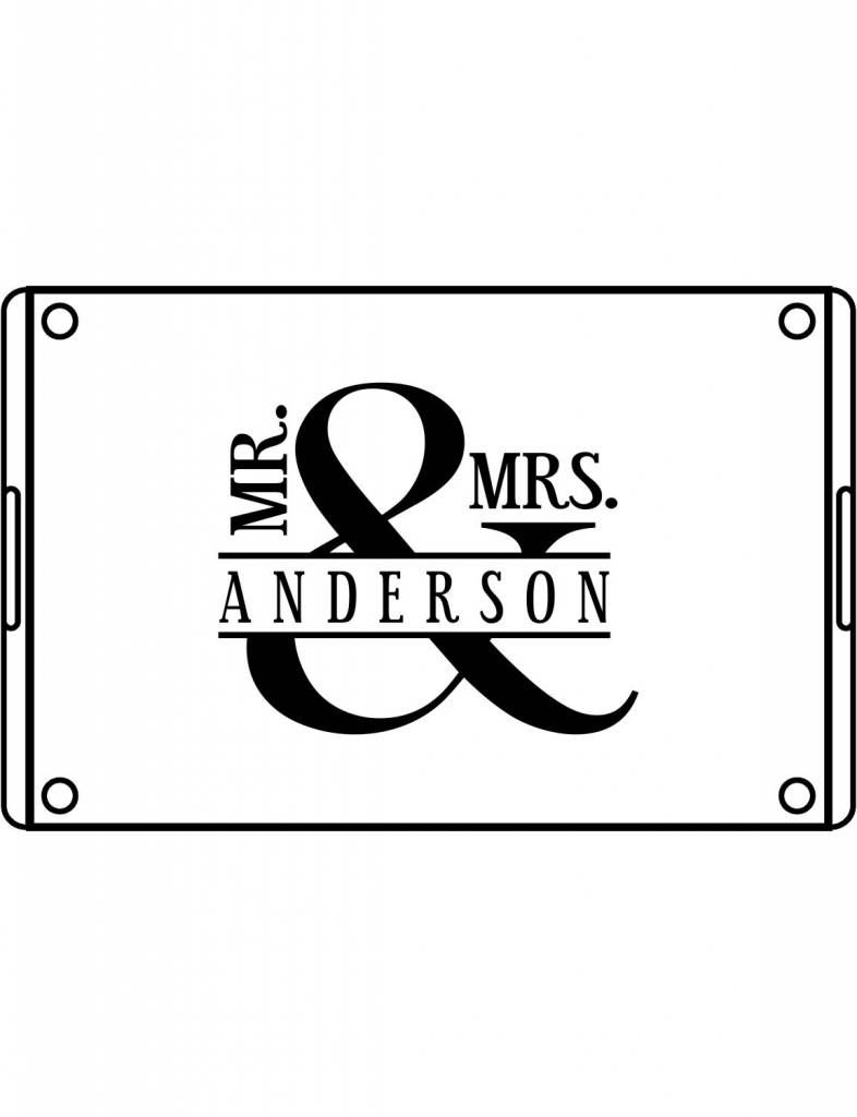 Acrylic Large Rectangular Tray-ACR55-Mr. & Mrs. Bold
