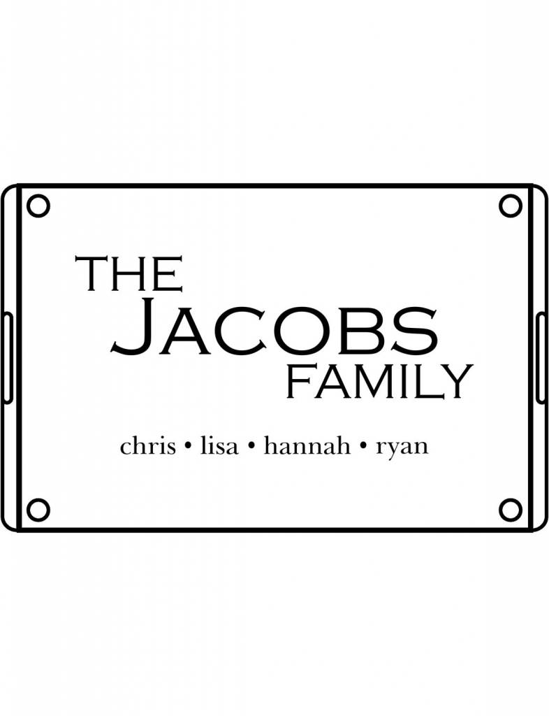 Acrylic Large Rectangular Tray-ACR22-Classic Family