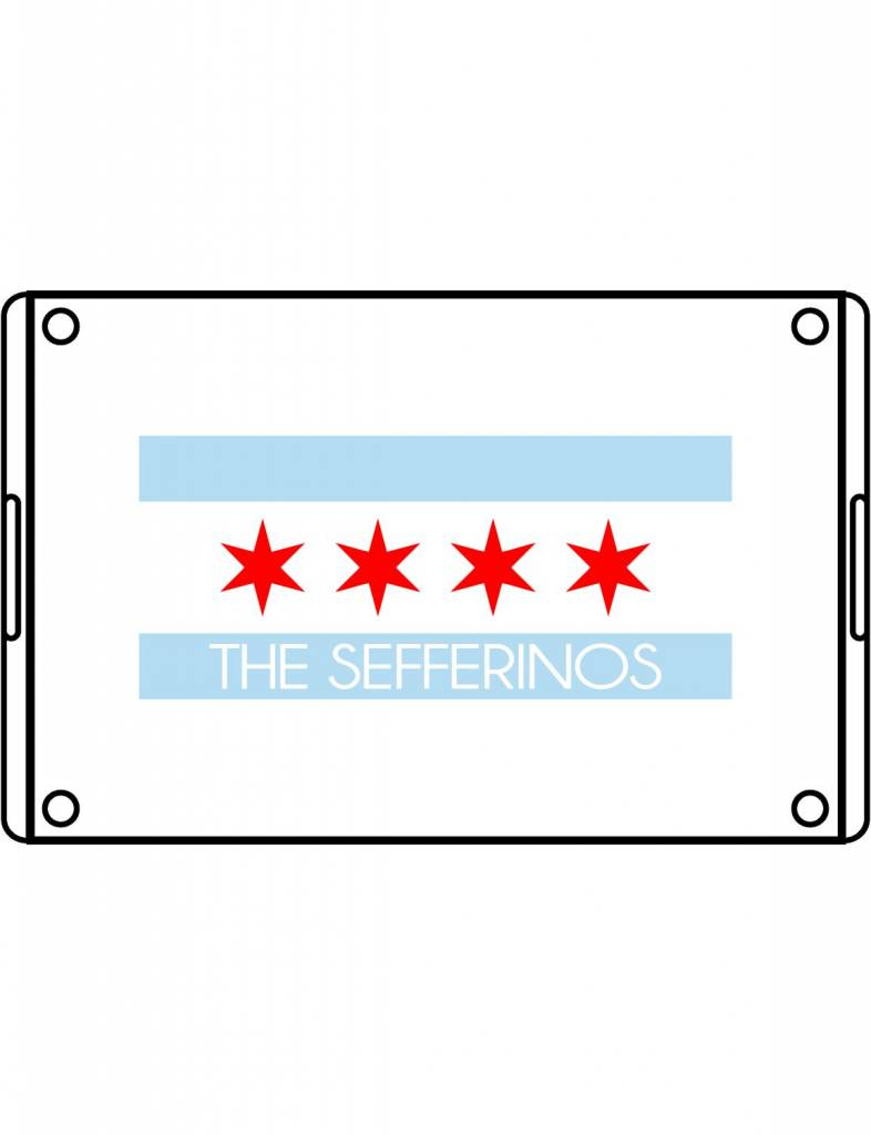 Acrylic Large Rectangular Tray-ACR58-Chicago Flag Family
