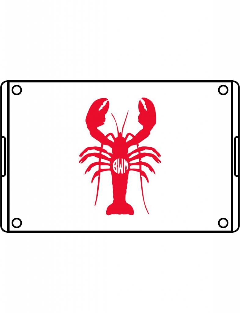 Acrylic Large Rectangular Tray-ACR93-Lobster Monogram
