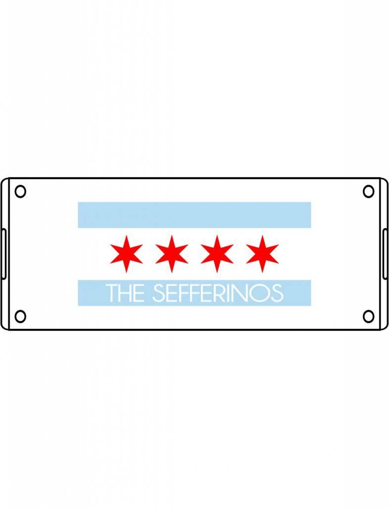 Acrylic Small Rectangular Tray-ACR58-Chicago Flag Family
