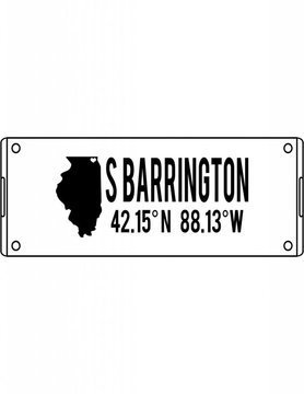 Acrylic Small Rectangular Tray-ACR65-Home Sweet Barrington