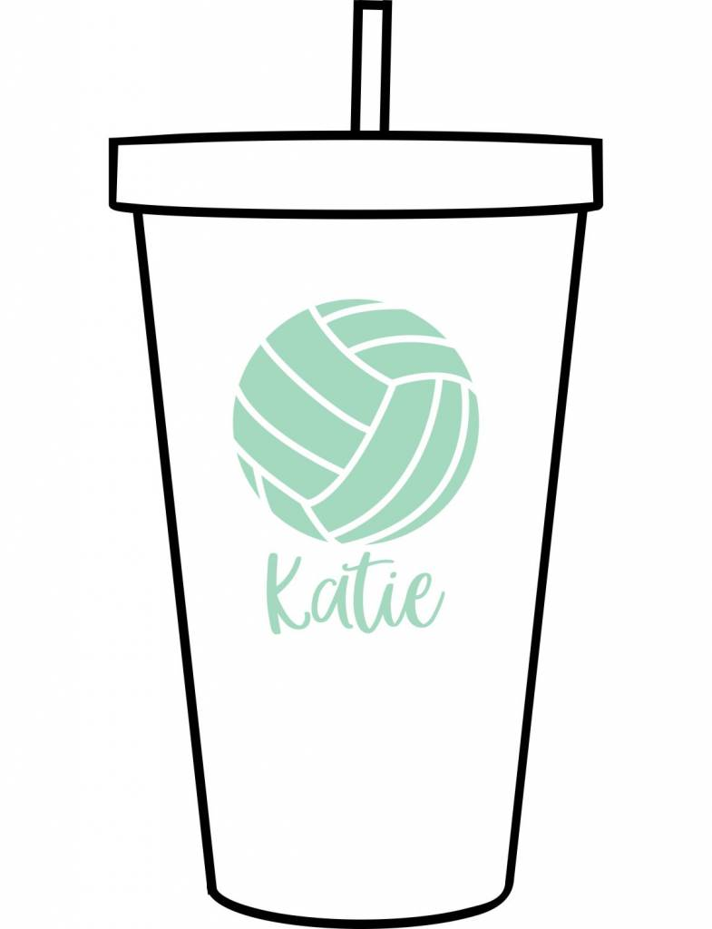Custom Acrylic Tumbler-ACR156-Volleyball