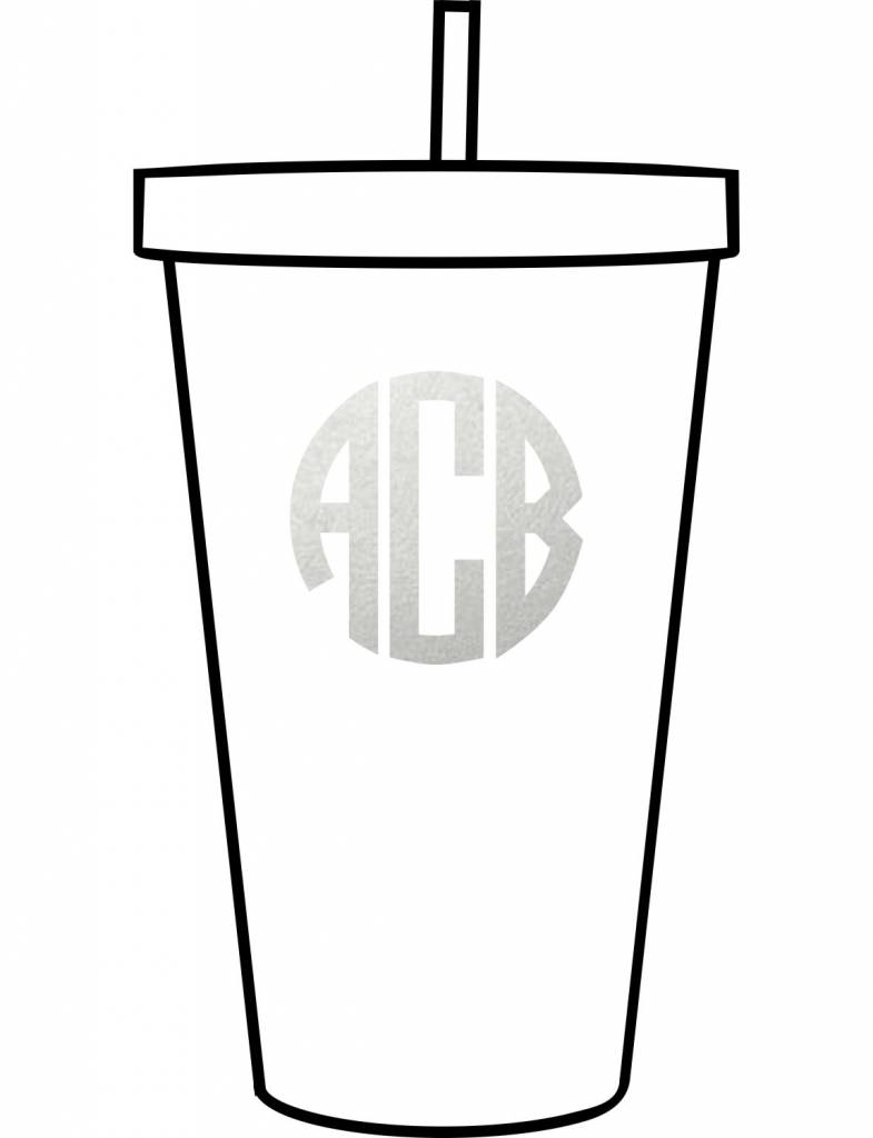 Custom Acrylic Tumbler-Circle Monogram