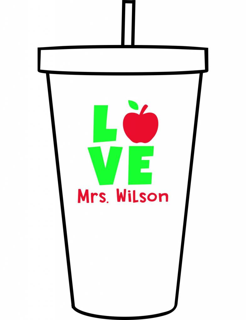 Custom Acrylic Tumbler-ACR115-Love to Teach