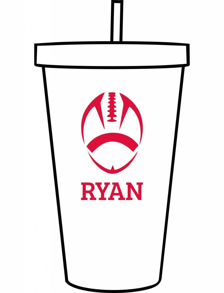 Custom Acrylic Tumbler-ACR149-Football