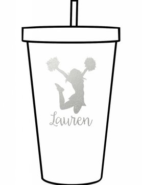 Custom Acrylic Tumbler-ACR148-Cheerleader