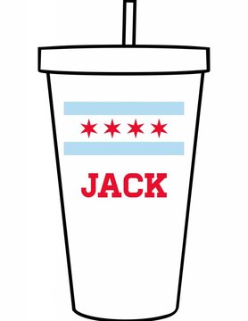 Custom Acrylic Tumbler-ACR140-Chicago Flag