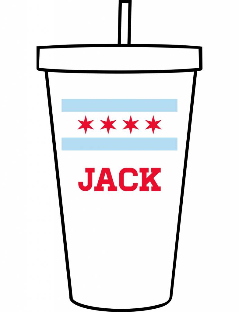 Custom Acrylic Tumbler-ACR140-Chicago Flag