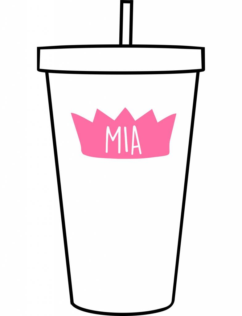 Custom Acrylic Tumbler-ACR137-Princess Crown