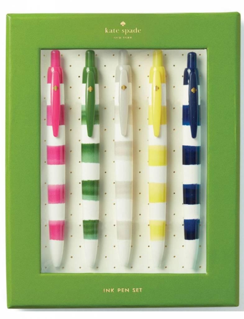 Kate Spade Pen Set, Rugby Stripe