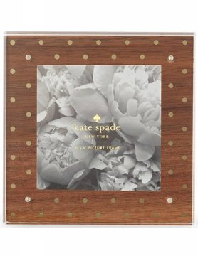 Kate Spade Wood & Gold Dots Picture Frame