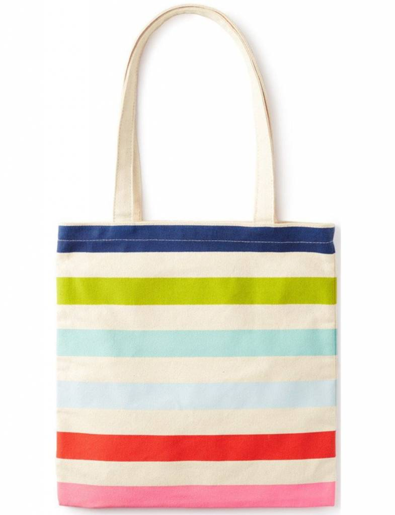Kate Spade Candy Stripe Canvas Book Tote