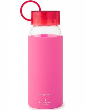 Kate Spade Pink Colorblock Water Bottle