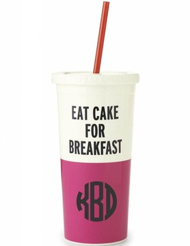 Kate Spade Insulated Tumbler, Eat Cake For Breakfast