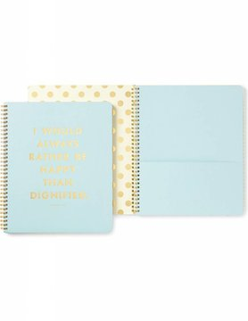 Kate Spade Large Spiral Notebook, Be Happy