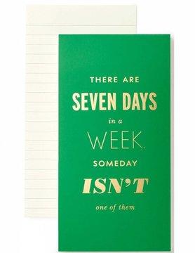 Kate Spade Notepad, Seven Days A Week