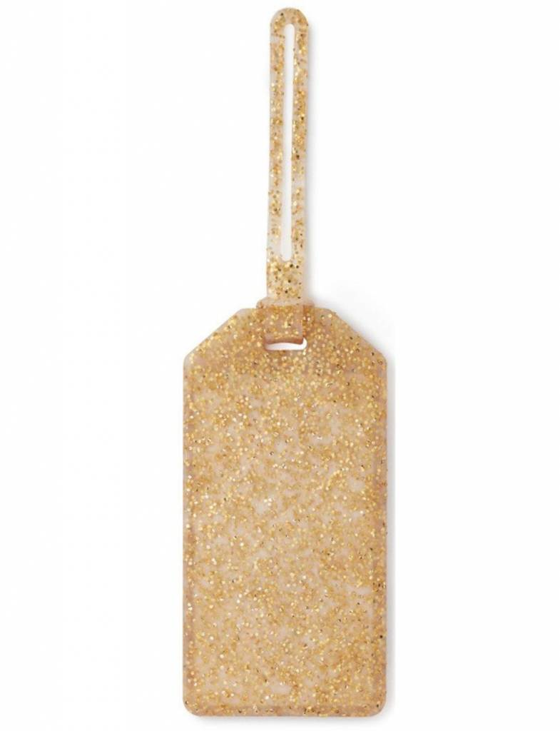 Kate Spade Off We Go Luggage Tag, Gold Glitter
