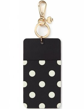Kate Spade Who Me? ID Holder, Black Dot