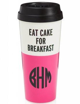 Kate Spade Thermal Mug, Eat Cake For Breakfast