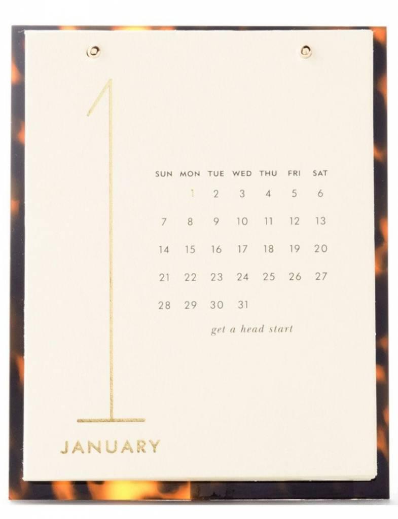 Kate Spade Desktop Calendar, Tortoise