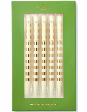 Kate Spade Mechanical Pencil Set, Gold Stripe