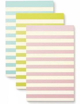 Kate Spade Notepad Set, Pastel Stripe
