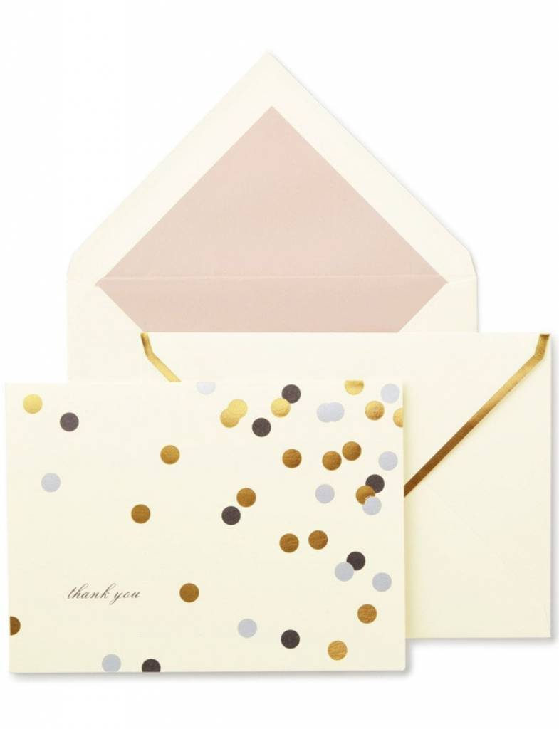 Kate Spade Thank You Notecard Set, Confetti Dot - Heads Up Boutique