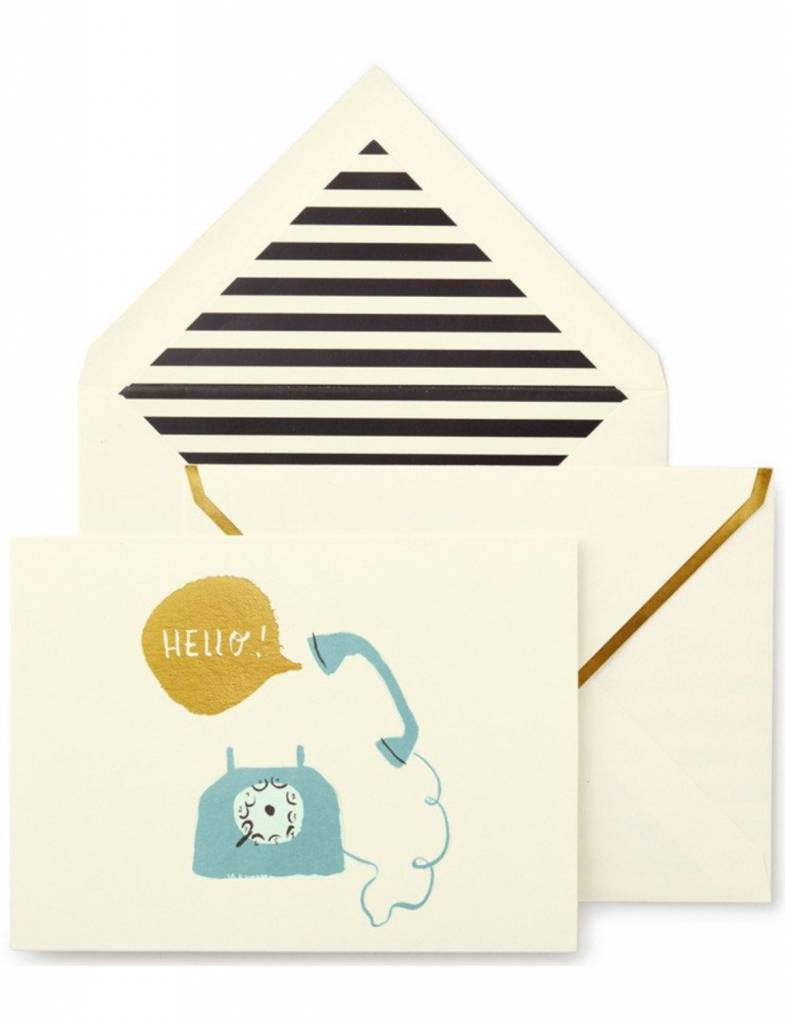 Kate Spade Foldover Card Set, Hello