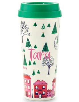 Kate Spade Thermal Mug, Holiday Village