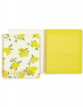 Kate Spade Large Spiral Notebook, Lemon