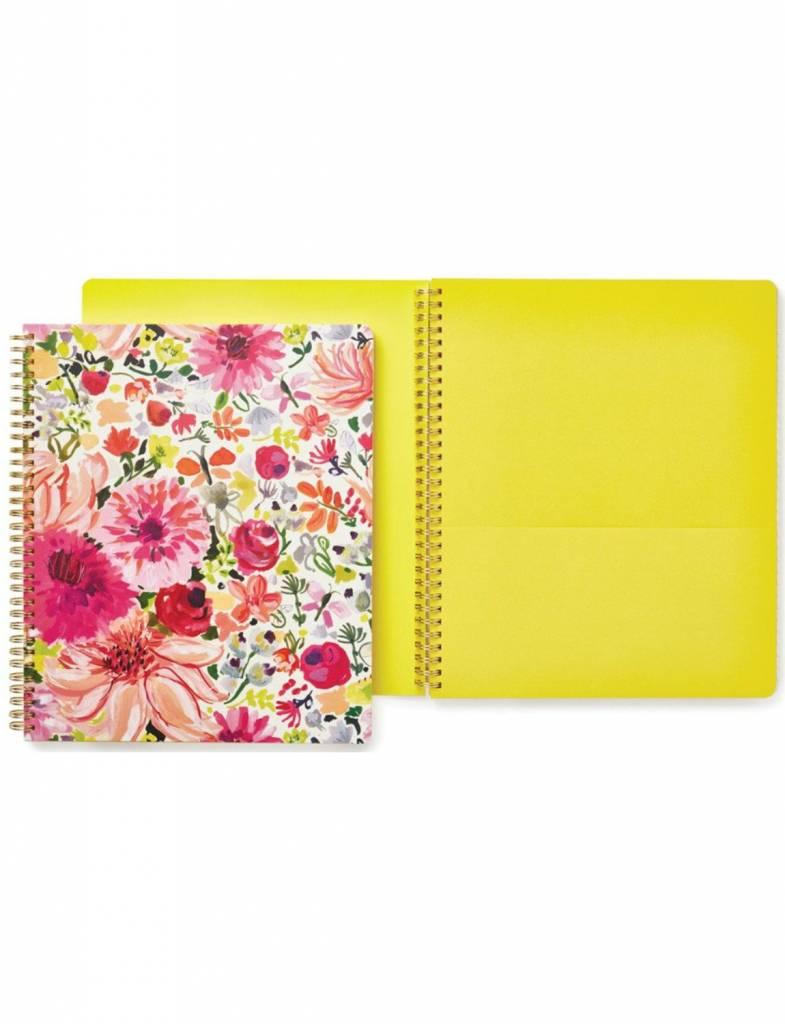 Kate Spade Large Spiral Notebook, Dahlia