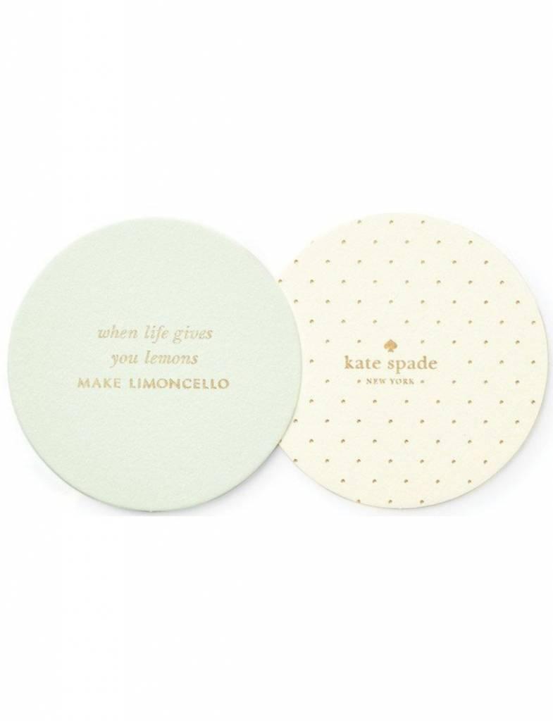 Kate Spade Coaster Set, Limoncello