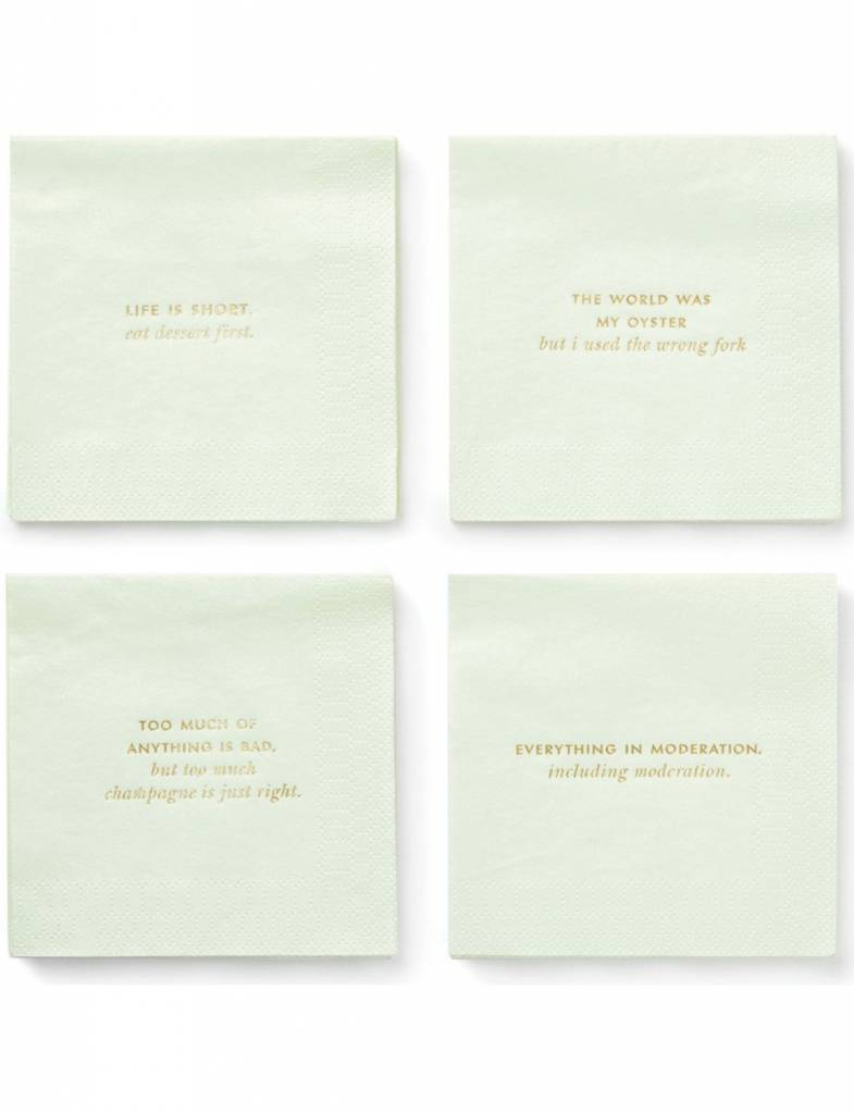 Kate Spade Cocktail Napkins, Musings