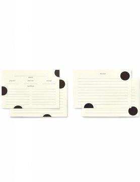 Kate Spade Deco Dot Recipe Card Refills