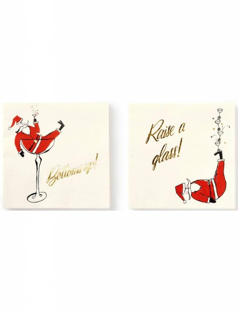 Kate Spade Jolly Santa Holiday Napkin Set